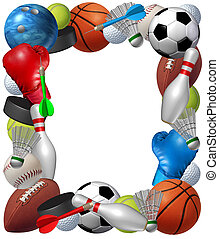 Sports Frame - Sports frame with sport equipment from...