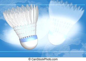 sports, game, badminton birdie
