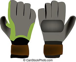 sports gloves - goalkeeper gloves dark color