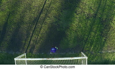 Sports Ground Aerial - Aerial view of the soccer playground...