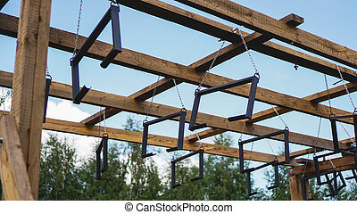 Sports ground. Climbing frame for competition