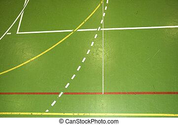Sports hall floor detail