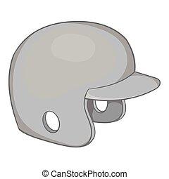 Sports helmet icon, black monochrome style