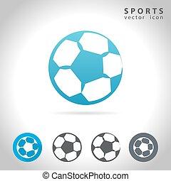 sports, icône, ensemble