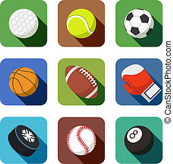 sports icons. set of vector illustration. isolated on white...