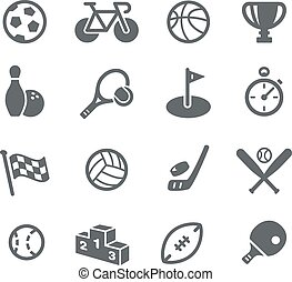 Sports Icons - Vector icons for your digital or print...