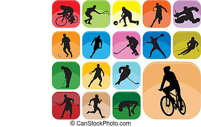Sports Icons. Vector illustration for you design