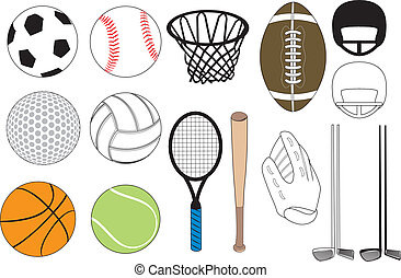 Sports Icons - Vector Illustration of 15 sports icons ...