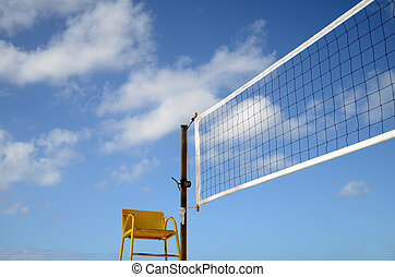 Sports Image Of A Volleyball Net