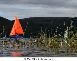 Sports Image of Boats Sailing on a Lake