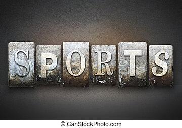 sports, letterpress, thème