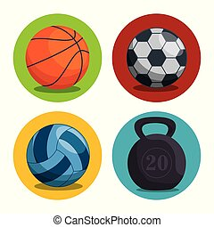 sports, ligue, ensemble, champions, icônes