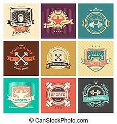 Sports logo - Set of various sports and fitness logo emblem ...