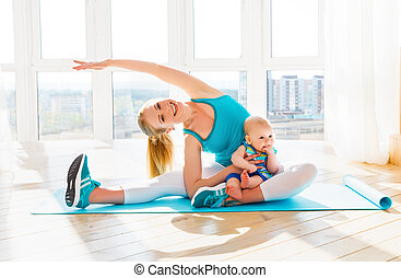 exercices b b yoga gymnastique m re. Black Bedroom Furniture Sets. Home Design Ideas