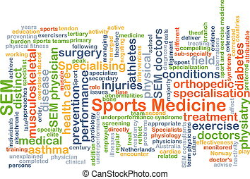 Sports medicine background concept - Background concept...
