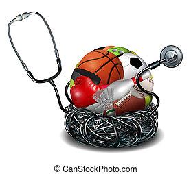 Sports Medicine - Sports medicine concept and athletic...