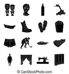 sports, medicine, travel and other web icon in black style.transport, atelier, Furniture icons in set collection.