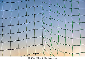 Sports net on blue sky