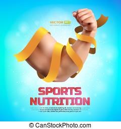 Sports nutrition vector illustration