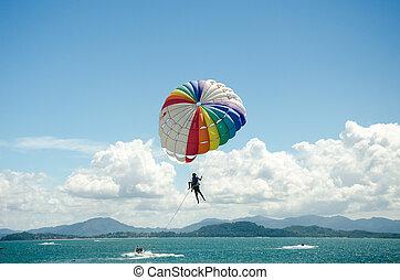 Sports parasailing