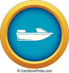 Sports powerboat icon blue vector isolated