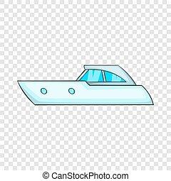 Sports powerboat icon, cartoon style