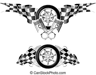 Sports Race Emblems - first set - Sports Race Emblems