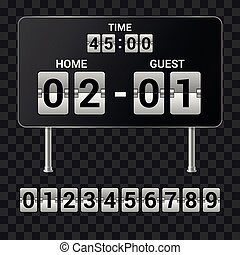 Sports scoreboard - set of realistic vector isolated objects