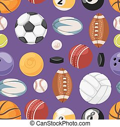 Sports seamless pattern illustration.