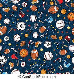 Sports Seamless Pattern Vector