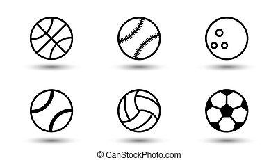 Sports set ball  icon.