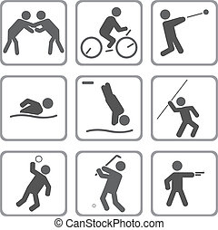 Sports - Set of sport icons. Vector illustration for you...