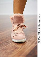 Sports shoe close up