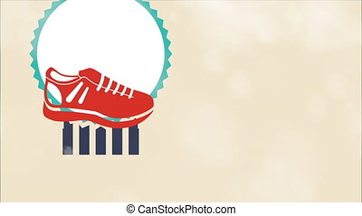 Sports shoes design, Video Animation HD1080