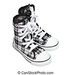 Sports shoes - high top sneakers