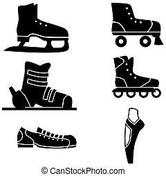 Sport shoe set isolated on a white background.
