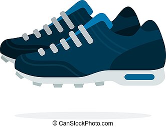 Sports shoes vector flat isolated