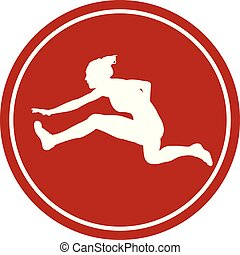 icon 100 m hurdles woman runner - sports sign icon 100 m...