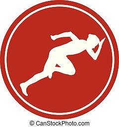 icon start woman runner
