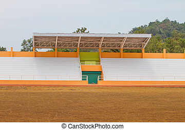 sports stadium and green grass