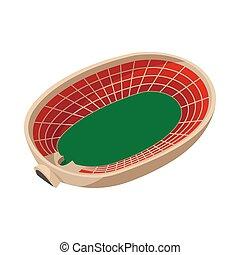 Sports stadium cartoon icon