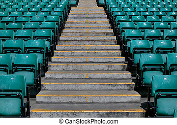 Sports stadium steps - Numbered steps in a sports stadium in...