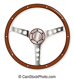 Sports Steering Wheel - Aluminium spoked sports type...