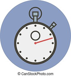 Sports stopwatch. Vector flat style