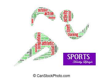 sports, style de vie, info-text, graphiques