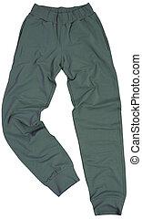 Sports sweatpants isolated on white background - Sports ...