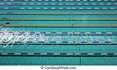 Sports swimming pool - sports swimming pool with strained...
