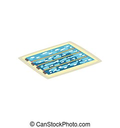 Sports swimming pool vector Illustration on a white background