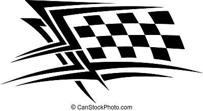 Racing sports tattoo