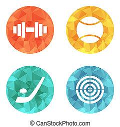 sports theme icons